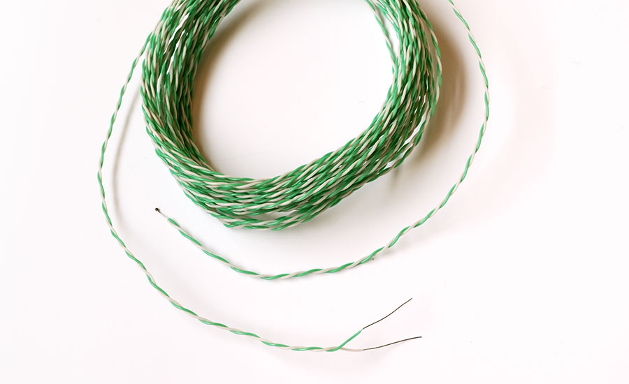 Thermocouple type K with green and white wires
